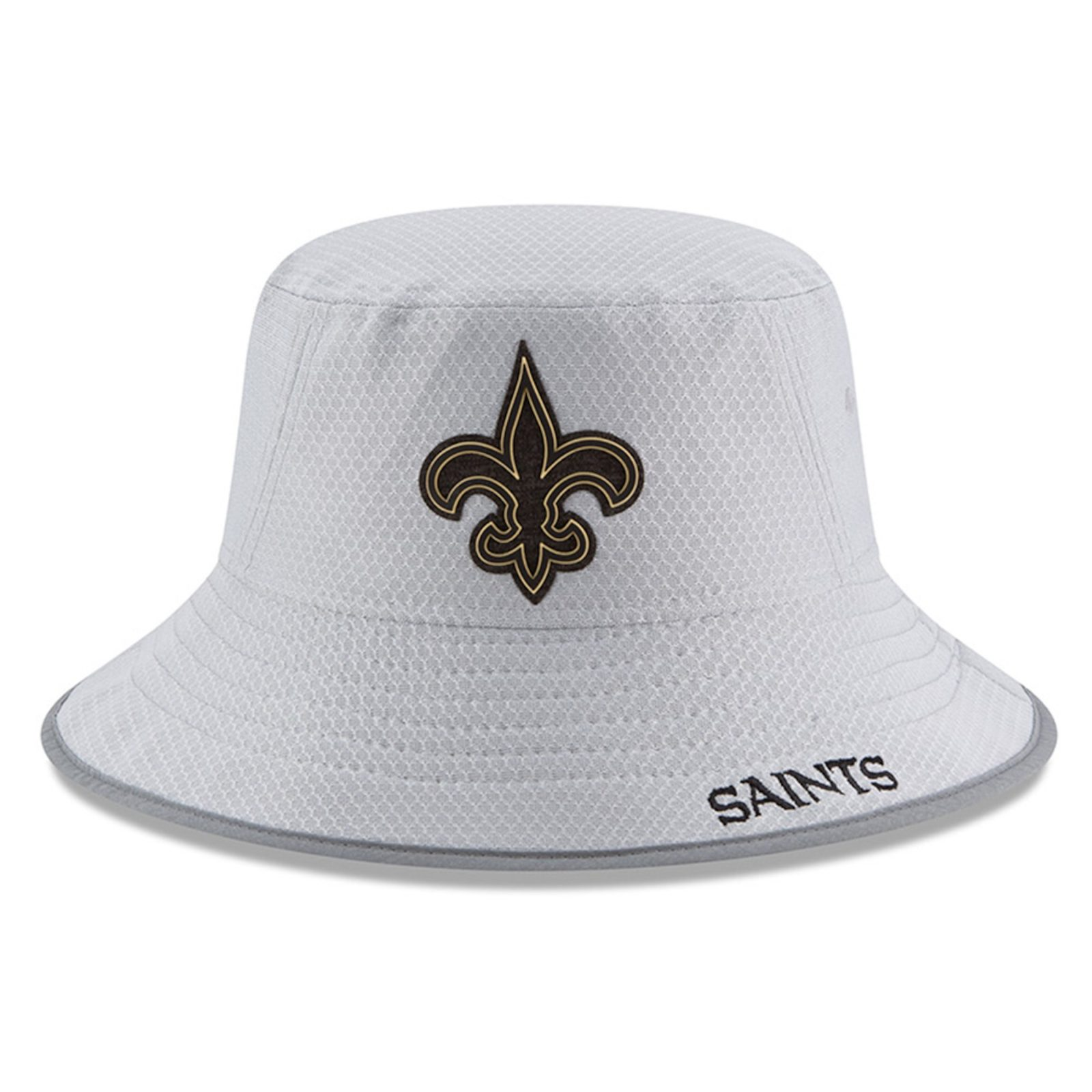 new styles bb2cb 2f0c4 New Orleans Saints New Era 2018 Training Camp Official Bucket Hat – Gray