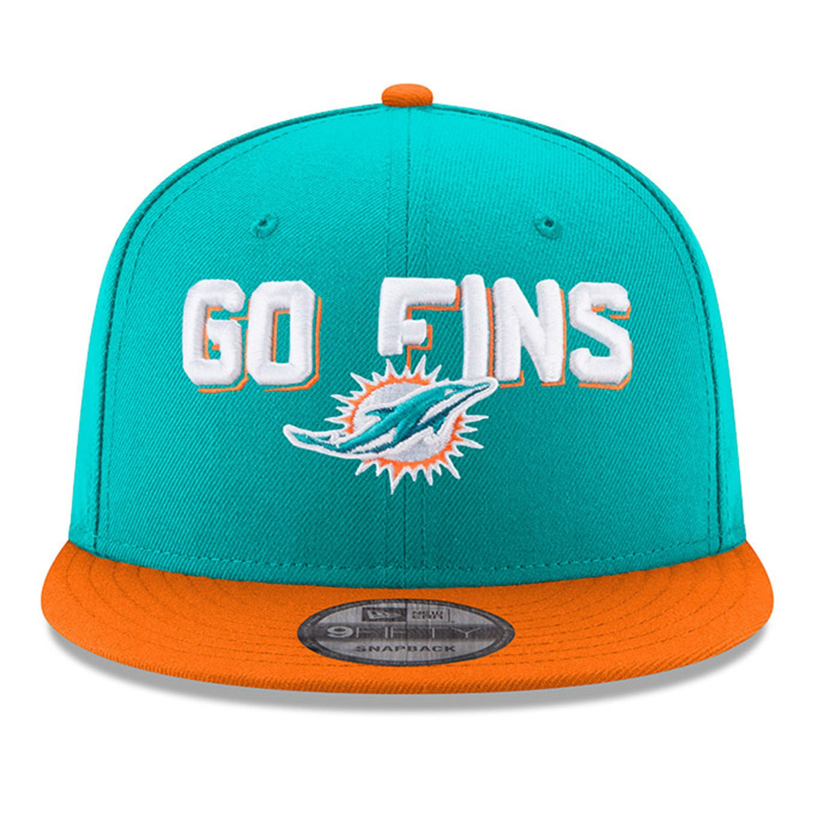 c4e1a02b80212e Miami Dolphins New Era 2018 NFL Draft Spotlight 9Fifty Snapback Hat – Aqua
