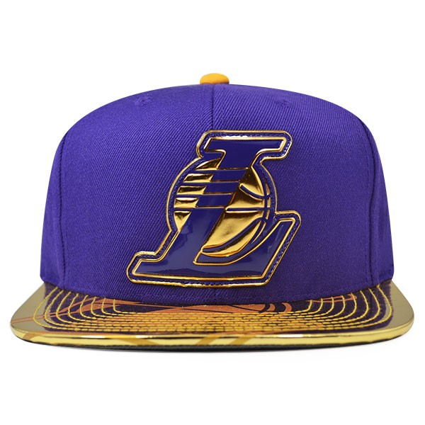 low priced 7c199 77059 Los Angeles Lakers Mitchell   Ness TEAM STANDARD Snapback NBA ...