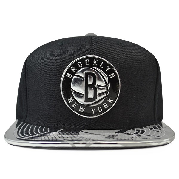 5876704d613 Brooklyn Nets Mitchell   Ness TEAM STANDARD Snapback NBA Adjustable ...