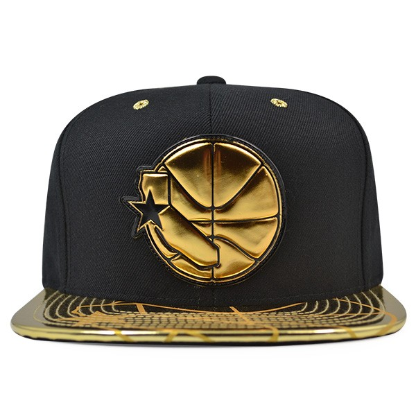 detailed pictures d1554 576d2 Golden State Warriors Mitchell   Ness Black Gold TEAM STANDARD ...