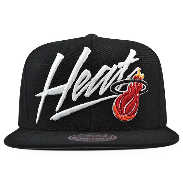 best sneakers 84c5e dc992 Miami Heat Mitchell   Ness VICE SCRIPT Snapback NBA Adjustable Hat ...