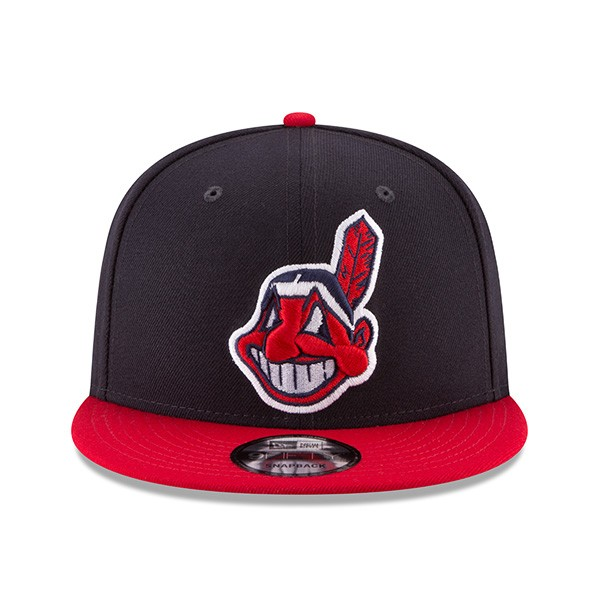 Cleveland Indians Basic Snapback 9Fifty New Era MLB Adjustable Hat ... 0c9bebcab520