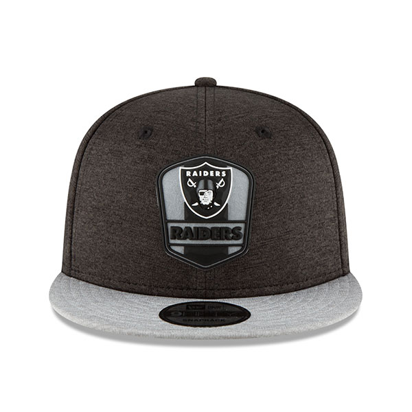 Oakland Raiders New Era 2018 NFL Sideline Road Official 9Fifty ... e8de471d0
