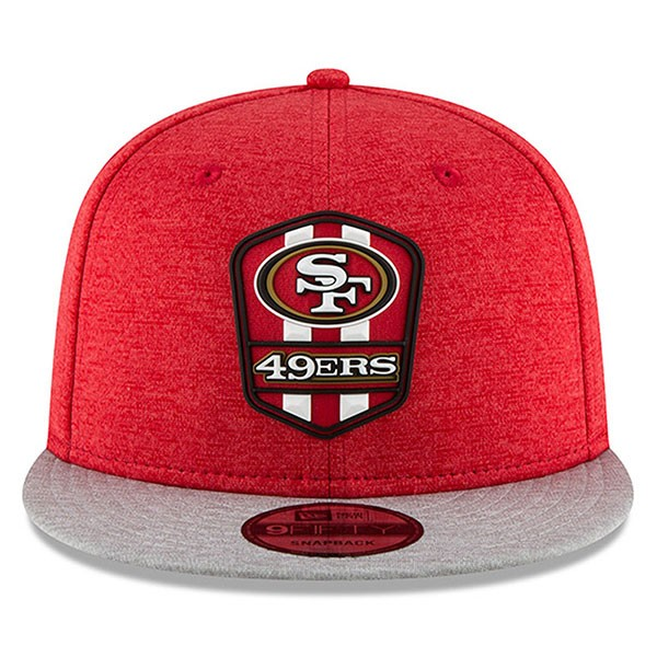 f12b8771 San Francisco 49ers New Era 2018 NFL Sideline Road Official 9Fifty Snapback  Hat
