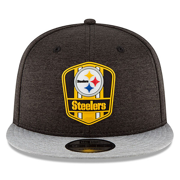 0e7630ff Pittsburgh Steelers New Era 2018 NFL Sideline Road Official 9Fifty Snapback  Hat