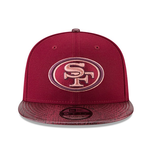 d834180cd8d96 San Francisco 49ers SNAKESKIN SLEEK Snapback 9Fifty New Era Rugged ...