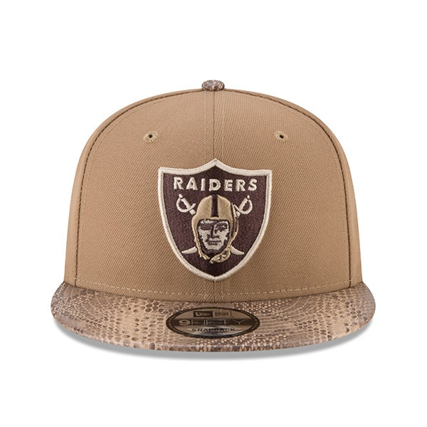 b7dc13f96b8273 Oakland Raiders SNAKESKIN SLEEK Snapback 9Fifty New Era Rugged NFL ...
