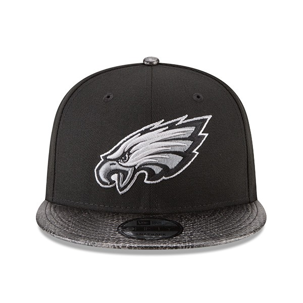 8452d892012c85 Philadelphia Eagles SNAKESKIN SLEEK Snapback 9Fifty New Era Rugged ...