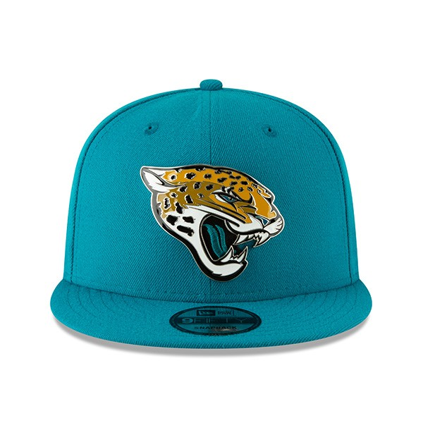 8f0bc4a3a145a Jacksonville Jaguars New Era METAL AND THREAD 9Fifty Snapback ...
