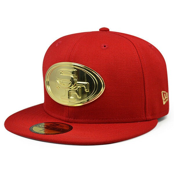Ottawa Senators Scarlet Red Light Blue Gold Silver New Era 59Fifty Fitted Hat
